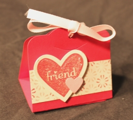 Valentines triangle treat