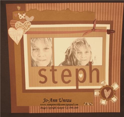 Steph scrapbook page