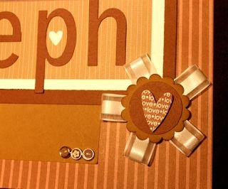 Steph scrapbook page closeup