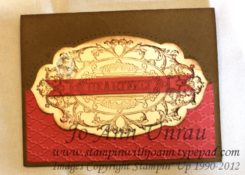 Layered Labels card